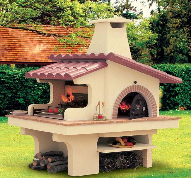 Camini da esterno in muratura ah97 pineglen - Forno per pizza da giardino ...